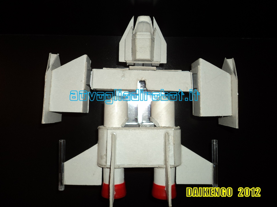 Combat Ship progetto immagini . Daikengo modellino robot 3