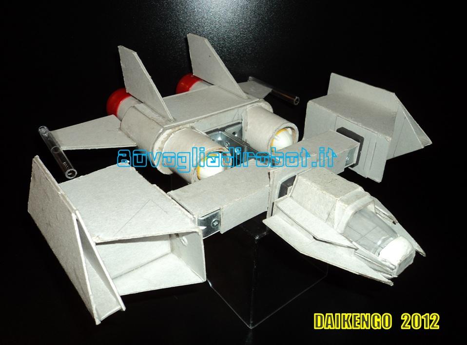 Combat Ship progetto immagini . Daikengo modellino robot 2