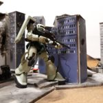 Diorama modellini robot City War