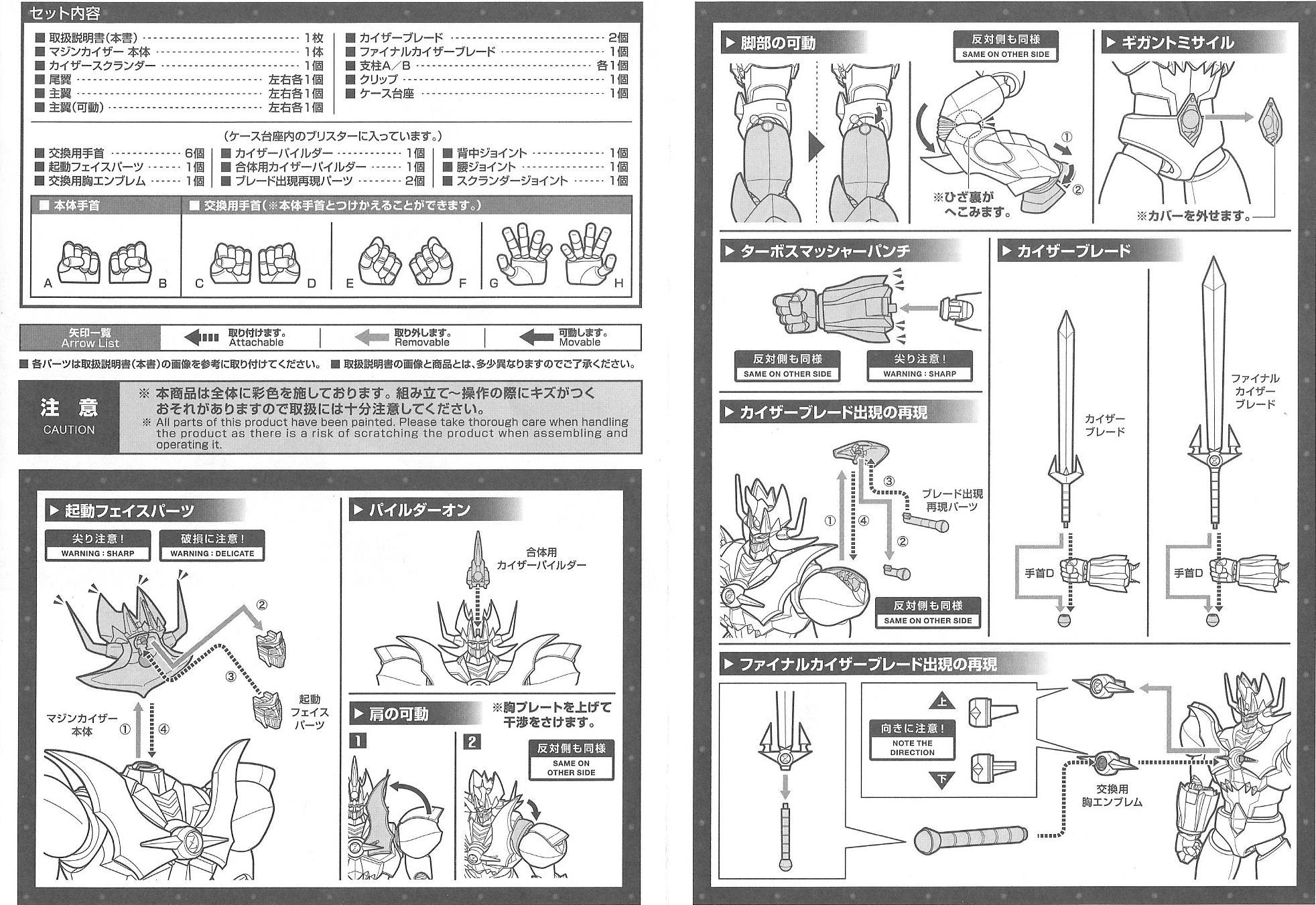 modellino mazinkaiser GX 75 istruzioni